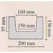 Trám tmavý 20 × 13 × 300 cm | tmavá