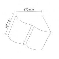 Konzola k trámům 20×13cm | světlá