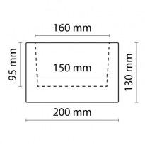 Trám tmavý 20×13×400cm | tmavá