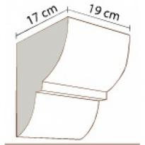 Konzola k trámům 19 × 17 cm   tmavá