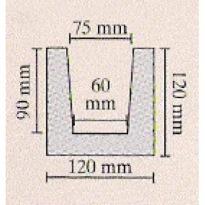 TRÁM TMAVÝ 12 × 12 × 300 cm | tmavá