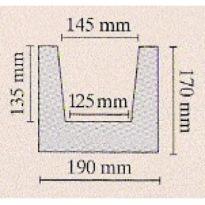 Trám tmavý 19 × 17 × 400 cm   tmavá