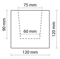 Trám tmavý 12×12×200cm | tmavá