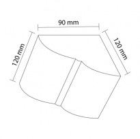 Konzola k trámům 12×12cm | tmavá