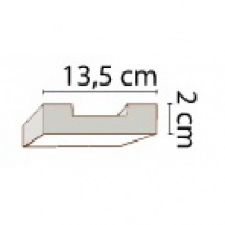 Prkno světlé 13,5 × 2 cm | světlá